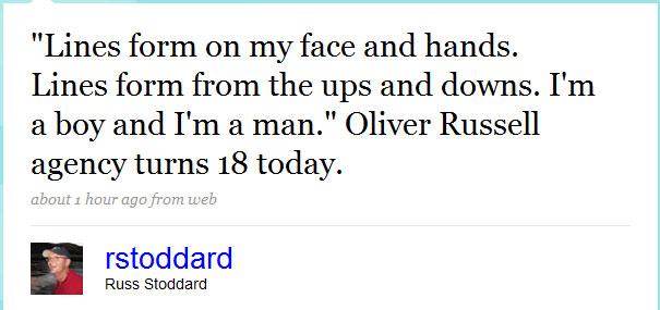 Russ Stoddard Twitter Update