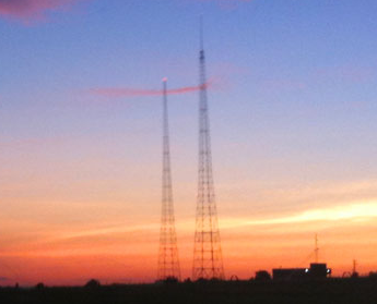 Meridian radio towers